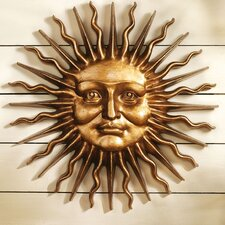 Sloane Square Greenman Sun Wall Sculpture in Antique Bronze