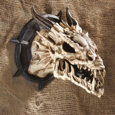 <strong>Design Toscano</strong> Horned Dragon Skull Trophy Wall Décor
