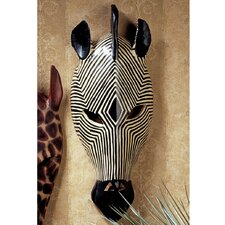 Tribal Style Zebra Mask Wall Décor