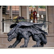 Warwickshire Dragon Coffee Table with Glass Top