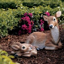 Mother Doe and Fawn Statue