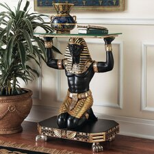 <strong>Design Toscano</strong> Servant to the Pharaoh Glass Topped Console Table