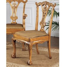 <strong>Design Toscano</strong> English Chippendale Fabric Side Chair