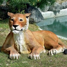 The Grand Scale Wildlife Animal Lioness Lying Down Statue