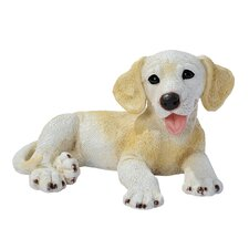 Labrador Puppy Dog Statue in Yellow