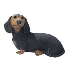 Dachshund Puppy Dog Statue in Black