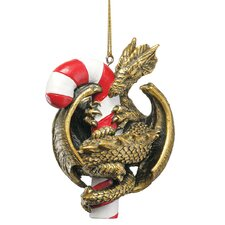 <strong>Design Toscano</strong> Dragon with a Sweet Tooth 2009 Holiday Ornament