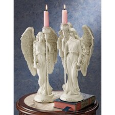 Angels of Virtue Sculptural Candelabra (Set of 2)
