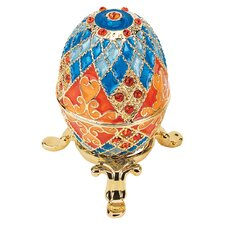 Grand Duchess Faberge-Style Georgievna Enameled Egg