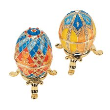Grand Duchess 2-Piece Georgievna and Nikolaevna Enameled Egg Set