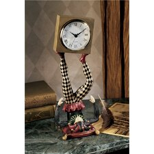 Juggling Time Harlequin Jester Sculptural Clock