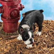 <strong>Design Toscano</strong> Lifting a Leg Boston Terrier Naughty Dog Statue (Set of 2)