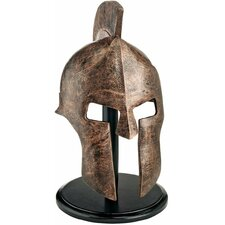 Greek Spartan Helmet Figurine