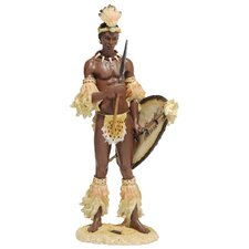 <strong>Design Toscano</strong> Shaka the Zulu Warrior King Figurine