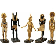 <strong>Design Toscano</strong> 5-Piece Gods of the Egyptian Realm Statue Set