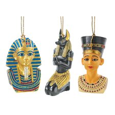 <strong>Design Toscano</strong> Icons of Ancient Egypt Holiday Ornament (Set of 3)