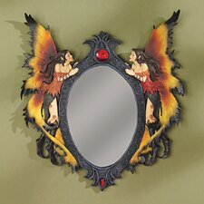 Twin Fairies Mirrored Wall Sculptue