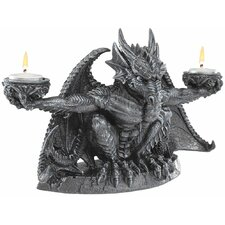 <strong>Design Toscano</strong> Judging the Darkness Dragon Novelty Candle Holder