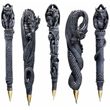 Gargoyles and Dragons Sculptural Pen (Set of 5)