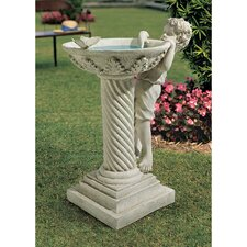 <strong>Design Toscano</strong> Summer's Splash Birdbath Statue