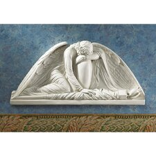 Angel Weeping Pediment Wall Décor