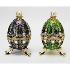 <strong>Design Toscano</strong> Bogdana Faberge-Style Enameled Valentina and Veronika Egg Set