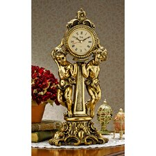 <strong>Design Toscano</strong> Amboise Twin Cherubs Mantle Clock
