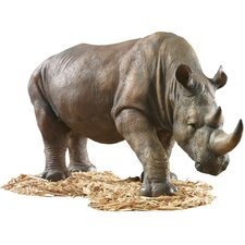 South African Rhino Garden Statue