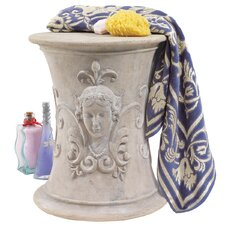 Flora Goddess of Spring Neoclassical French Spa Stool
