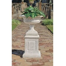 <strong>Design Toscano</strong> Larkin Arts and Crafts Architectural Garden Urn and Plinth Set