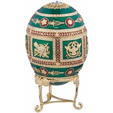 <strong>Design Toscano</strong> The Emerald Collection Faberge-Style Enameled Redonka Egg