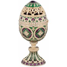 <strong>Design Toscano</strong> The Emerald Collection Faberge-Style Enameled Minishka Egg