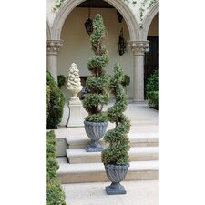 <strong>Design Toscano</strong> Spiral Topiary in Urn