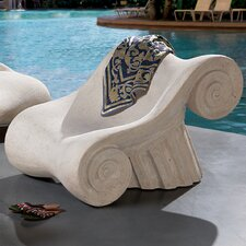 <strong>Design Toscano</strong> Hadrian's Villa Roman Spa Furniture Master's Lounge Chair