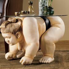 Basho the Sumo Wrestler Sculpture End Table