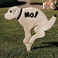No Pausing Pooch Lawn Sign Garden Stake