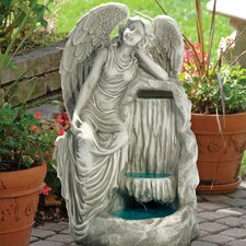 Resin Resting Grace Angel Garden Fountain