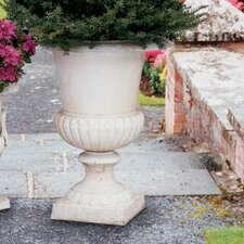 Chateau Elaine Authentic Large Iron Urns (Set of 2)