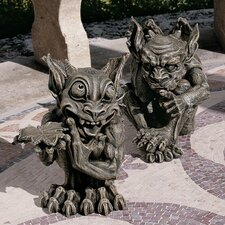 Babble and Whisper Gargoyle Statue (Set of 2)