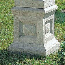 Neoclassical Grand Garden English Plinth Pedestal Stand