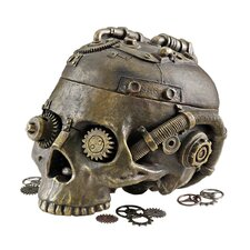 Steampunk Skull Containment Vessel Figurine