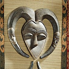 African Tribal Wall Mask Kwele