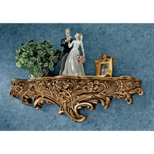 Brussels Floral Art Nouveau Sculptural Wall Shelf