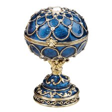 Royal Palace Faberge Style Enameled Eggs Peterhof