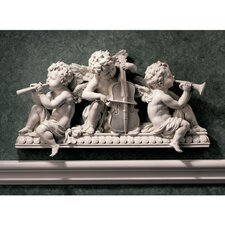 Angelic Notes Sculptural Wall Pediment