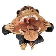 Big Mouthed Mocking Monkey Figurine (Set of 2)