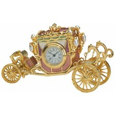 Collectible Baroque Carriage Box Clock