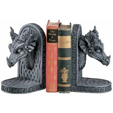 Gray Friar Dragon Statue Book Ends (Set of 2)