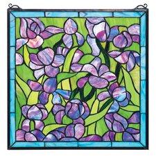 Saint-Remy Irises Stained Glass Window