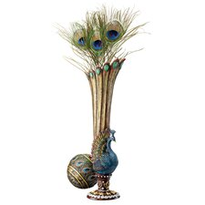 Peacock Bud Vase (Set of 2)